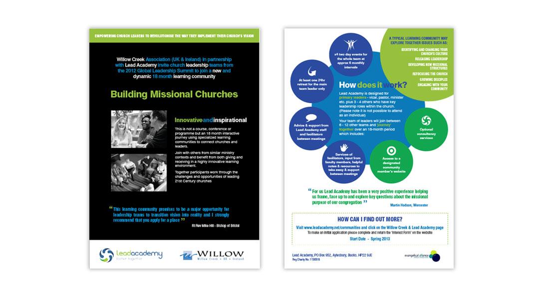 Lead Academy A5 Trifold Leaflet