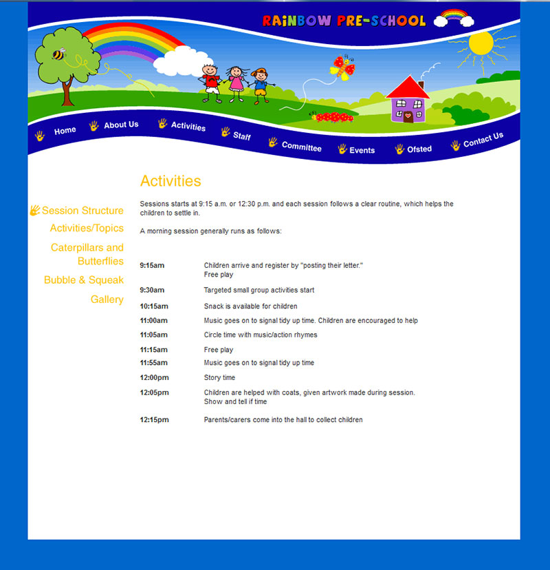 Rainbow Website 2