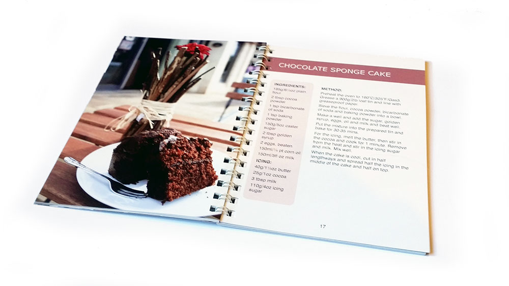 Inside recipe book